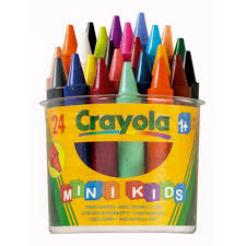 crayola mini kids crayons 24 from early years resources uk