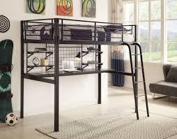 black metal twin loft bed with desk garth boltzero twin black metal loft bed with workstation black