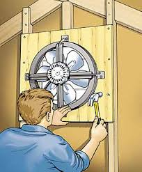 installing a gable vent fan attic fan installation how to install an attic fan