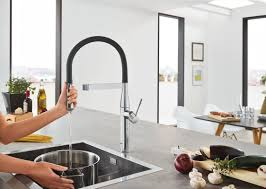 professional kitchen faucet grohe essence single handle kitchen faucet with silkmove