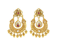 gold earrings buy phalak chandelier gold earring for women online best gold