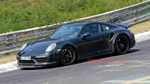 porsche 911 wide porsche 911 turbo s spotted at nurburgring with wide
