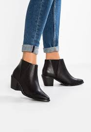 ankle boots uk look look wide fit wide fit ankle boots black zalando