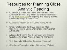 crafting successful close reading lessons using text dependent questi u2026