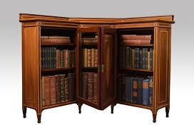Small Bookcases With Glass Doors Furniture Small Corner L Shaped Bookcase With Glass Doors