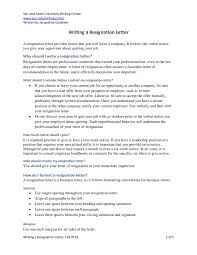 business letters sample last minute resignation letter objective