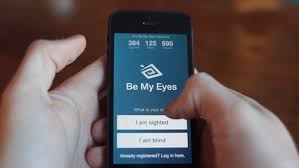 Technology For Blind People Be My Eyes App Helps Blind People U0027see U0027 Daily Mail Online