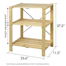 amazon com furinno fncj 33013 pine solid wood 3 tier shelf