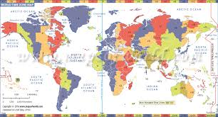 us map divided by time zones world time zone map time zones of all countries