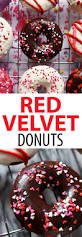 red velvet donuts perfect for valentine u0027s day baked donuts