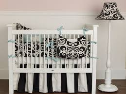 Black And White Crib Bedding Set Designer Baby Crib Bedding For Baby Nursery With Rugs To Coordinate