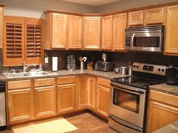 oak cabinets simple brown wooden kitchen cabinet sleek stainless
