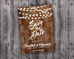 rustic save the date cards save the date postcard lights