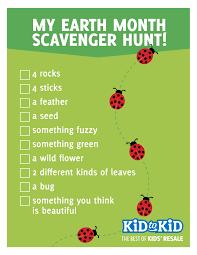 earth month exploration scavenger hunt guide u0026 craft kid to kid