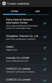 android adblock root adblock mobile interesting finds trusted credentials