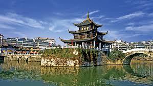 hong kong tourist bureau the jiaxiu building in the capital city guiyang photo credit