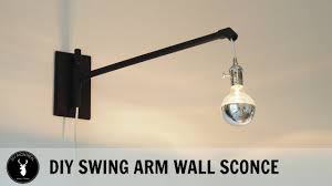 Articulating Arm Wall Sconce Diy Swing Arm Wall Sconce Youtube