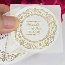 party favor labels 90 pcs vintage wedding decoration personalized stickers customize