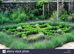 herb knot garden lavender box hedges trellis paving