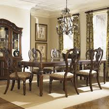 messina estates seven piece traditional dining table and chair set