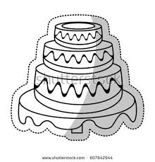wedding cake outline wedding cake with heart wedding topper stock images royalty free