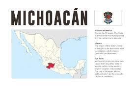 Michoacan Mexico Map by