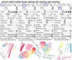 my brush settings paint tool sai by mehyt sai brushes