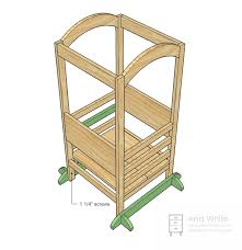 Wooden Step Stool Plans Free by Ana White The Little Helper Tower Diy Projects