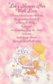 moments baby shower invitations baby u0026 angel pink