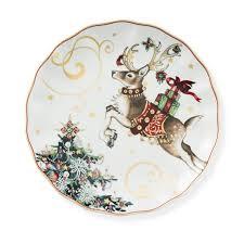 christmas plate twas the before christmas dinner plates reindeer williams