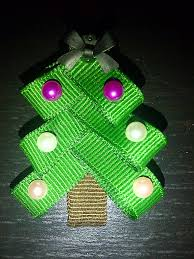 lucky u0027s crafts make your own christmas tree hair clip