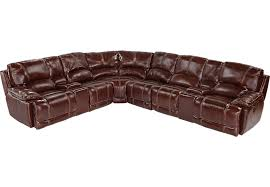 Rooms To Go Sofa Bed Cindy Crawford Home Van Buren Burgundy 8 Pc Leather Sectional