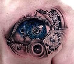 design on chest minds eye black eye