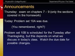 physics 203 college physics i fall ppt
