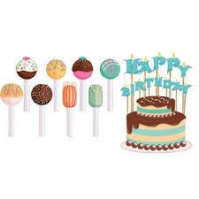 birthday cake pops happy birthday pathway markers cake and cake pops yard