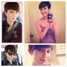 pictures of hair cut for year healthy vita growing out a pixie cut one year later hair