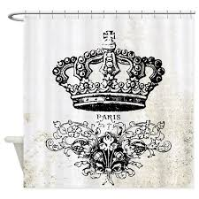 vintage french shabby chic crown paris grey white bathroom