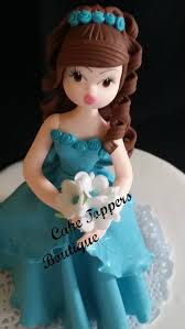beautiful in teal blue dress elegant cake topper for any