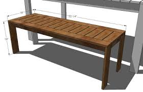 Garden Bench With Planters Ana White Build A Simple Outdoor Bench Diy Projects