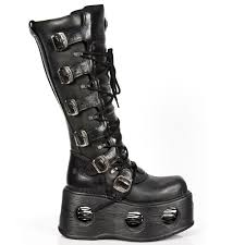 tall motorcycle boots m 272 s2 spring soled tall new rock platform boots metallic