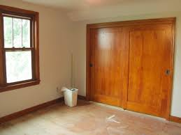 wood sliding closet doors