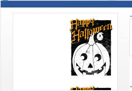 how to create printable halloween greeting cards in word