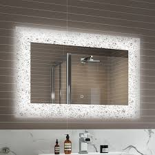 900 x 600 mm modern illuminated led bathroom mirror light sensor