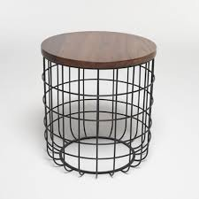 Wire Side Table Side Table Original Design Steel Wire Studio Wire Side
