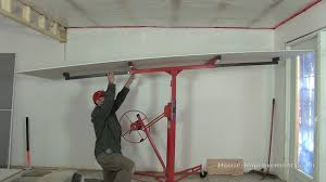 use a drywall lift youtube