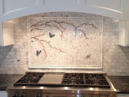 Green Subway Tile Backsplash Transitional Calacatta Gold Mosaic Backsplash Transitional Kitchen Dc