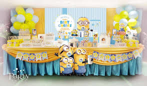 minion baby shower decorations despicable me minions baby shower party ideas photo 2 of 19