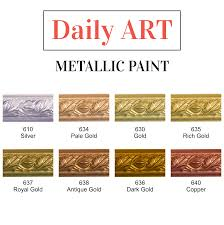 metallic paint 50 ml u2013 daily art