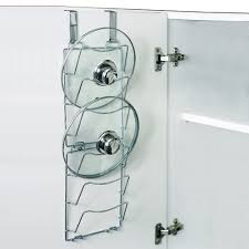 set of 2 over the door pan lid storage racks amazon co uk