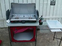 Coleman Camp Kitchen With Sink by New Camp Stove And Pantry Review Youtube